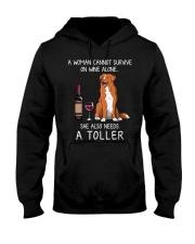 Wine and Toller Hooded Sweatshirt thumbnail