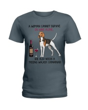 Wine and Treeing Walker Coonhound 2 Ladies T-Shirt thumbnail