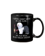 Wine and Old English Sheepdog Mug thumbnail