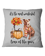 The Most Wonderful Time - Pit Bull Square Pillowcase tile