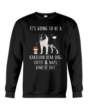 Karelian Bear Dog Coffee and Naps Crewneck Sweatshirt thumbnail