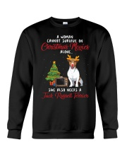 Christmas Movies and Jack Russell Terrier Crewneck Sweatshirt tile