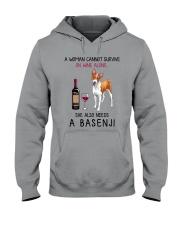 Wine and Basenji 2 Hooded Sweatshirt thumbnail