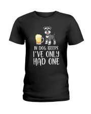 In Dog Beers I've Only Had One - Schnauzer Ladies T-Shirt thumbnail