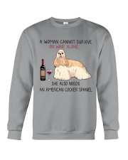 Wine and American Cocker Spaniel 2 Crewneck Sweatshirt thumbnail