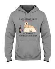 Wine and American Cocker Spaniel 2 Hooded Sweatshirt thumbnail