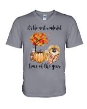 The Most Wonderful Time - Pekingese V-Neck T-Shirt thumbnail