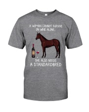 Wine and Standardbred Classic T-Shirt front
