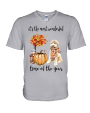 The Most Wonderful Time - Goldendoodle V-Neck T-Shirt thumbnail
