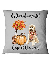 The Most Wonderful Time - Goldendoodle Square Pillowcase thumbnail