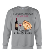 Wine and Pomeranian 2 Crewneck Sweatshirt thumbnail