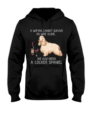 Wine and Cocker Spaniel Hooded Sweatshirt thumbnail
