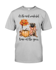 The Most Wonderful Time - Pug Classic T-Shirt front