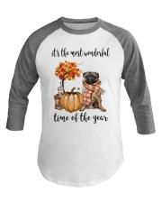 The Most Wonderful Time - Pug Baseball Tee thumbnail