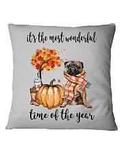 The Most Wonderful Time - Pug Square Pillowcase thumbnail