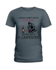 Wine and A Carpenter 2 Ladies T-Shirt thumbnail