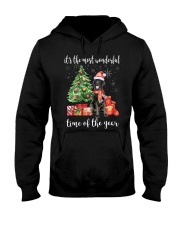 The Most Wonderful Xmas - Black Labrador Hooded Sweatshirt thumbnail