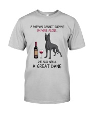 Wine and Great Dane 4 Classic T-Shirt front