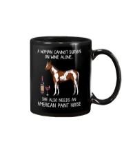 Wine and American Paint Horse Mug thumbnail
