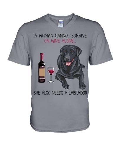 Wine and Labrador 2