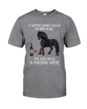 Wine and Friesian Horse Classic T-Shirt front