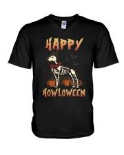 Happy Howloween - German Shepherd V-Neck T-Shirt thumbnail