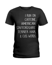 Caffeine and American Staffordshire Terrier Ladies T-Shirt thumbnail