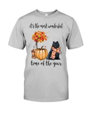 The Most Wonderful Time - Black Pomeranian Classic T-Shirt front
