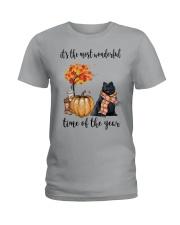 The Most Wonderful Time - Black Pomeranian Ladies T-Shirt thumbnail