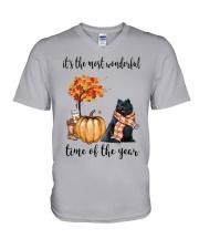 The Most Wonderful Time - Black Pomeranian V-Neck T-Shirt thumbnail