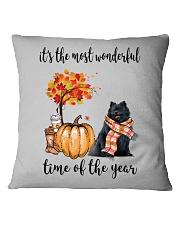The Most Wonderful Time - Black Pomeranian Square Pillowcase thumbnail
