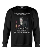 Wine and Portuguese Water Dog Crewneck Sweatshirt thumbnail