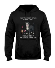 Wine and Portuguese Water Dog Hooded Sweatshirt thumbnail