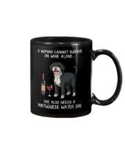 Wine and Portuguese Water Dog Mug thumbnail