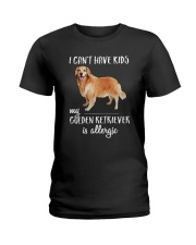 My Golden Retriever is Allergic Ladies T-Shirt thumbnail