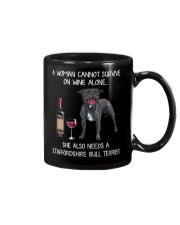 Wine and Staffordshire Bull Terrier Mug thumbnail