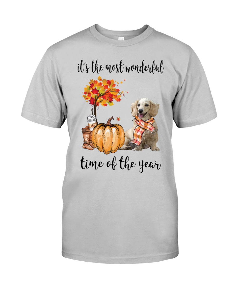 The Most Wonderful Time Long Haired Dachshund Classic T-Shirt