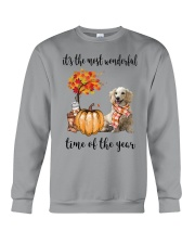 The Most Wonderful Time Long Haired Dachshund Crewneck Sweatshirt thumbnail