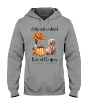 The Most Wonderful Time Long Haired Dachshund Hooded Sweatshirt thumbnail