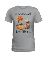 The Most Wonderful Time Long Haired Dachshund Ladies T-Shirt thumbnail
