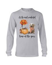 The Most Wonderful Time Long Haired Dachshund Long Sleeve Tee thumbnail