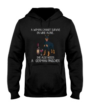 Wine and German Pinscher Hooded Sweatshirt thumbnail
