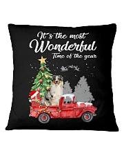 Wonderful Christmas with Truck - Aussie Square Pillowcase thumbnail