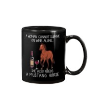 Wine and Mustang Horse Mug tile