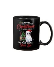 Christmas - Wine and Shih Tzu Mug thumbnail