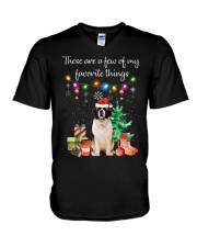A Few of My Favorite Things - Saint Bernard V-Neck T-Shirt thumbnail