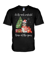 The Most Wonderful Xmas - Shih Tzu V-Neck T-Shirt thumbnail