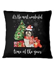 The Most Wonderful Xmas - Shih Tzu Square Pillowcase thumbnail