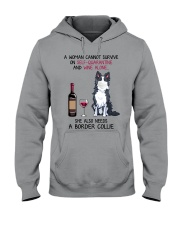 Cannot Survive Alone - Border Collie Hooded Sweatshirt thumbnail