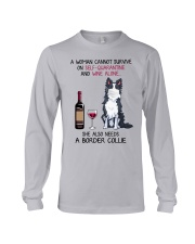 Cannot Survive Alone - Border Collie Long Sleeve Tee thumbnail
